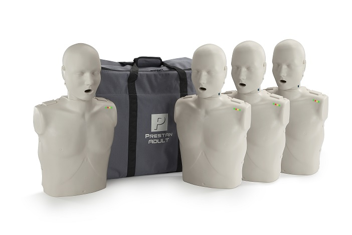 Prestan Professional Adult CPR-AED Training Manikins 4-Pack