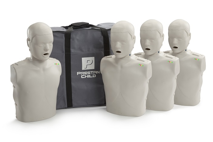 Prestan Professional Child CPR-AED Training Manikins 4-Pack (with monitor)