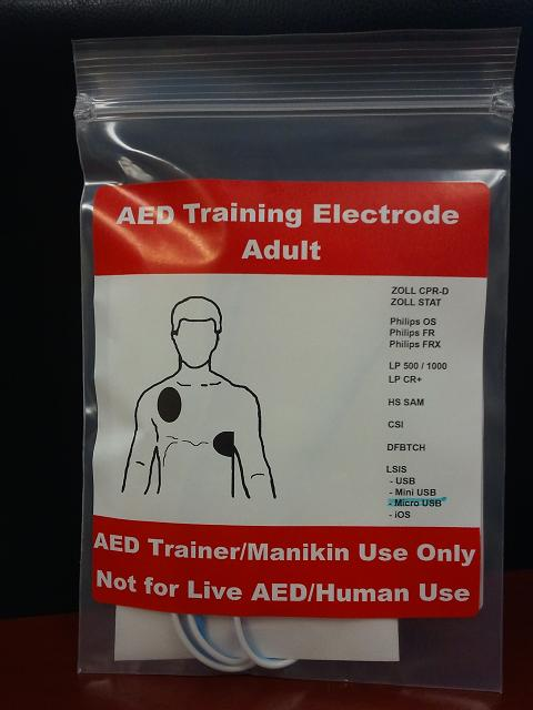 Adult AED Training Electrodes - Phillips FR2/FR/MRx