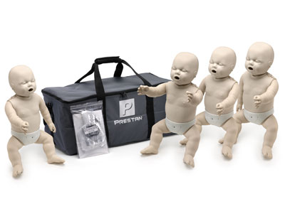 Prestan Professional Infant CPR-AED Training Manikins 4-Pack (without monitor)